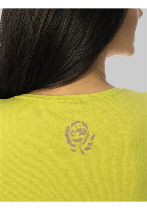 Women's Clothing Colors of the World cardigan in apple green silk and cotton Maliparmi | Knitwear | JN21827807460120