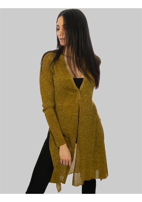 Women's Clothing Long Cardigan in Lurex and Gold Silk Maliparmi | Knitwear | JN35567036590000
