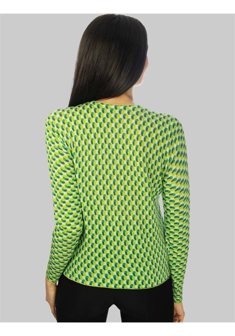 Abbigliamento Donna Cardigan Corto Symmetria in Viscosa Naturale Lime Maliparmi | Maglieria | JN356870504C6026