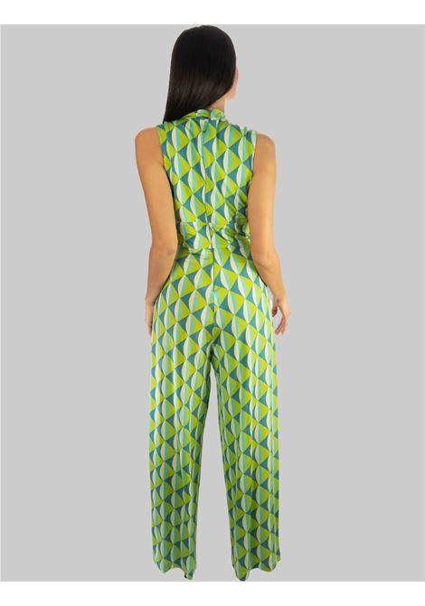 Abbigliamento Donna Tuta Lunga e Ampia in Jersey Symmetria a Fantasia Acqua Maliparmi | Abiti | JU001670496A8208