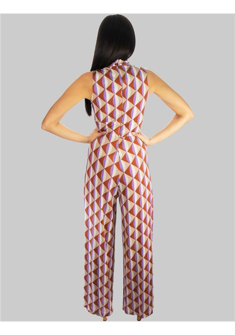 Women's Clothing Long Jumpsuit in Symmetria Jersey with Natural Pattern Maliparmi |  | JU001670496B1106