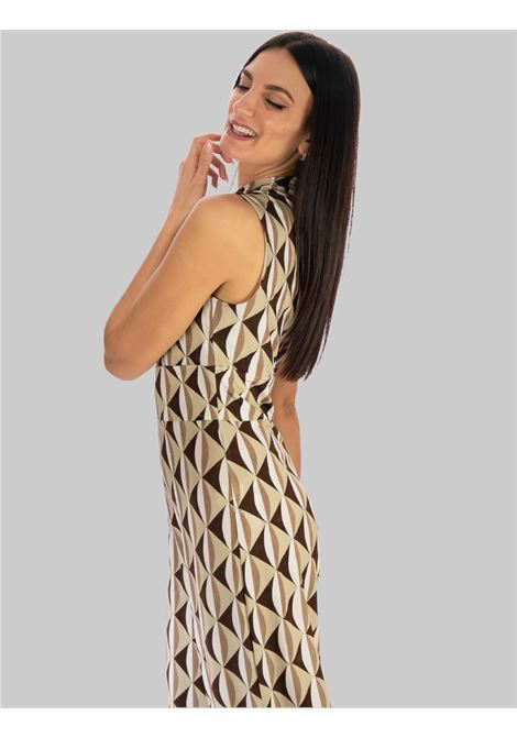Women's Clothing Long Suit in Beige Fantasy Symmetria Jersey Maliparmi |  | JU001670496B1239