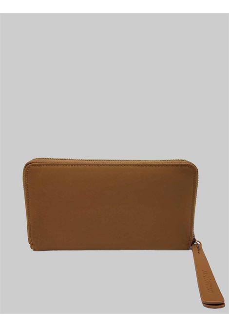 Accessori Donna Portafoglio Grande in Nylon Beige con Porta Carte e Vano con Zip Porta Monete Maliparmi | Portafogli | OF00136004112071