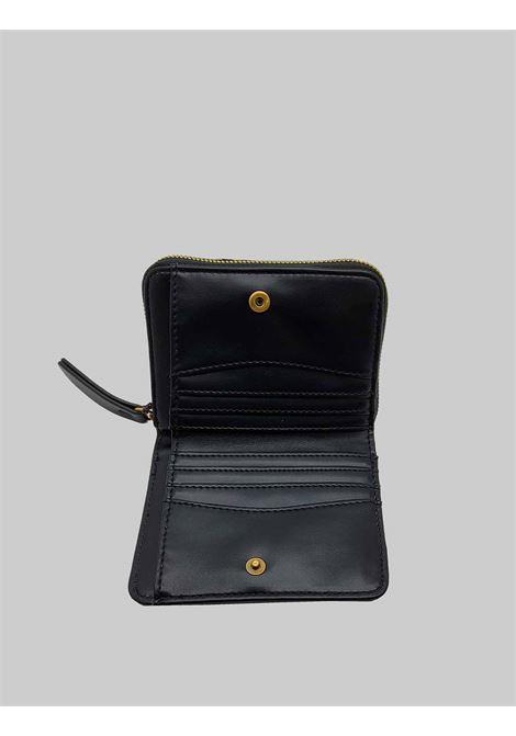 Accessori Donna Portafoglio Piccolo in Nylon Nero con Porta Carte e Vano con Zip Porta Monete Maliparmi | Portafogli | OF00166004120000