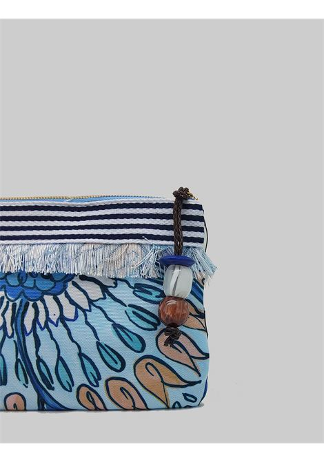 Women's Accessories Pouch Summer Breakfast Bag in Light Blue and Blue Cotton Maliparmi | Bags and backpacks | OP008610134A1846