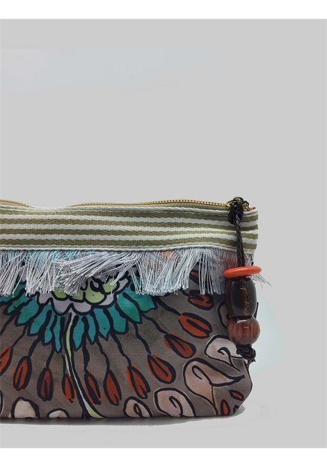 Women's Accessories Pouch Summer Breakfast Bag in Brown and Taupe Cotton Maliparmi | Bags and backpacks | OP008610134B4067