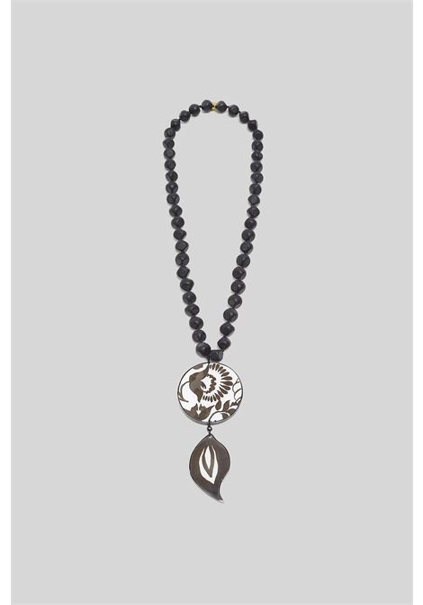Women's Accessories Turkish Delight Necklace in Black and White Resin with Matching Pendant Maliparmi |  | TC043990784A1049