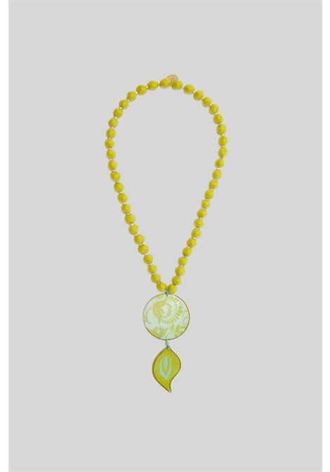 Women's Accessories Turkish Delight Necklace in Water and Gold Resin with Matching Pendant Maliparmi |  | TC043990784C6018