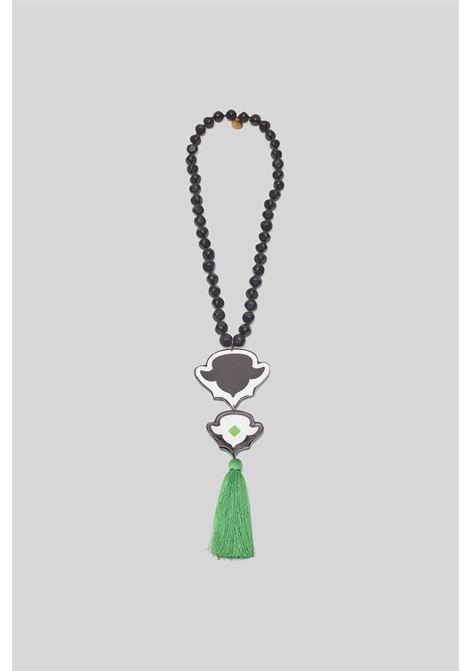 Accessori Donna Collana Ceres Diamond Nera e Verde Maliparmi | Collane | TC044090785A1052