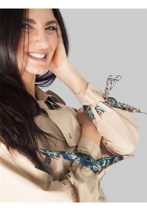 Abbigliamento Donna Spolverino Trench Doppiopetto in Colore Cuoio con Bottoni a Pressione Mercì | Giacche e giubbini | H133R014