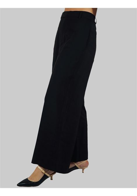 Women's Clothing Trousers in Black Cupro Wide Elastic Fabric Mercì | Skirts and Pants | P245C001