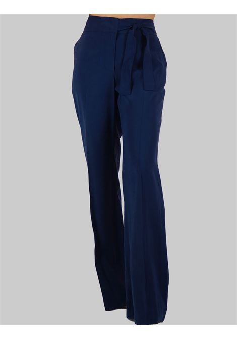 Women's Clothing Bow Pants in Wide Blue Fabric with Soft Fit Mercì | Skirts and Pants | P251U027