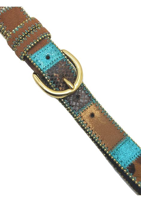 Women's Accessories Belt in Multicolored Leather and Leopard Nanni Milano | Belts | N167500