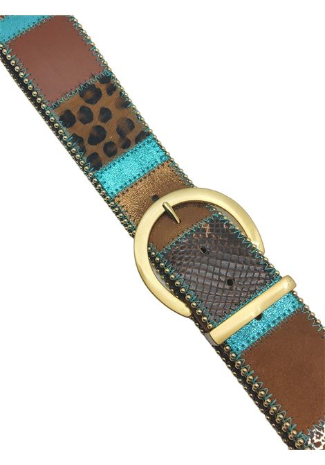 Women's Accessories High Belt in Multicolored Leather and Leopard Nanni Milano | Belts | N662500