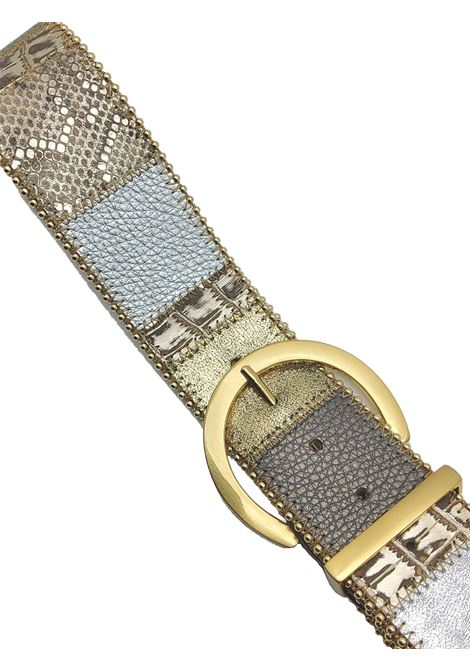Women's Accessories High Belt in Laminated Multicolor Leather Nanni Milano | Belts | N662602