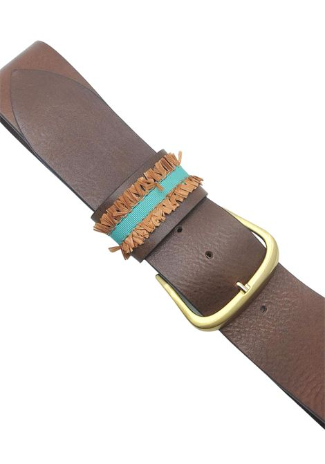 Women's Accessories High Leather Belt with Embroidered Loop Nanni Milano | Belts | N804014