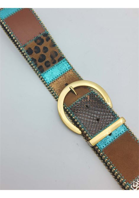 Women's Accessories High Belt in Multicolored Leather and Leopard Nanni | Belts | N662500
