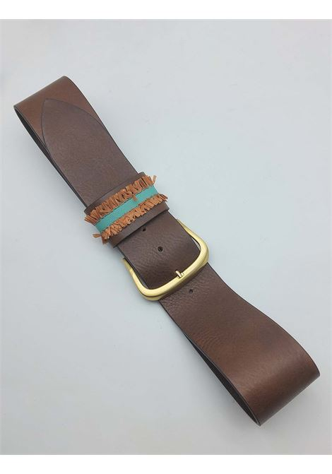 Women's Accessories High Leather Belt with Embroidered Loop Nanni |  | N804014