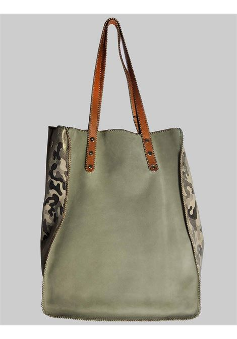 Green Suede Woman Bag with Long Leather Handles Nanni | Bags and backpacks | NKIMPOP006