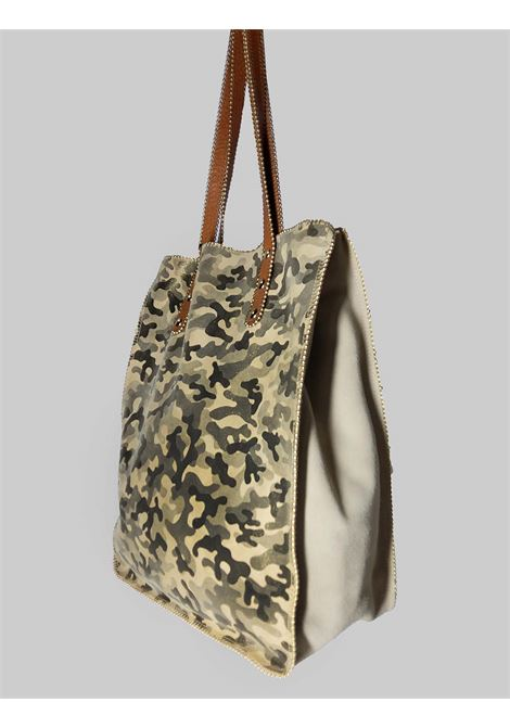 Woman Bag in Military Green Suede with Long Leather Handles Nanni | Bags and backpacks | NKIMPOP023
