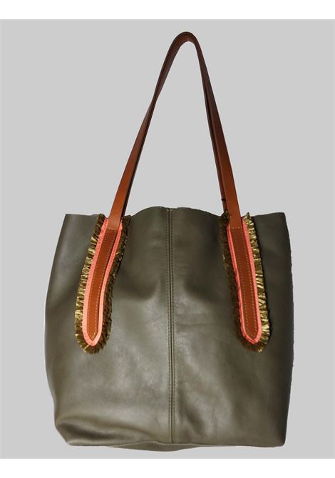 Woman Shoulder Bag in Green Leather with Double Handles in Natural Leather Nanni | Bags and backpacks | NMINI25005