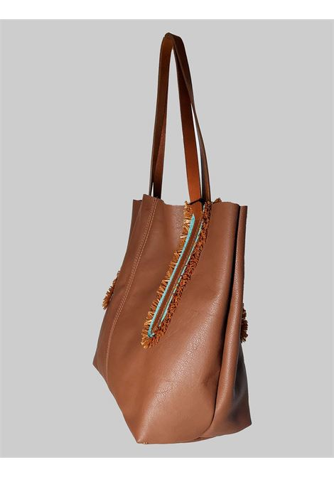 Woman Shoulder Bag in Tan Leather with Double Handles in Natural Leather Nanni | Bags and backpacks | NMINI25014