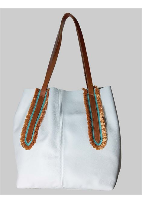 Woman Shoulder Bag in White Leather with Double Handles in Natural Leather Nanni | Bags and backpacks | NMINI25100
