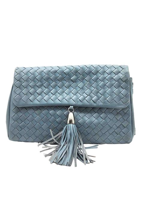 Woman Shoulder Bag in Sky Braided Leather with Pendant and Silver Metallic Chain Pons Quintana | Bags and backpacks | V050400