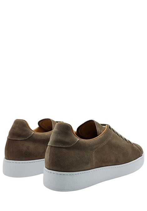 Men's Shoes Sneakers Lace-up in Taupe Suede Leather Lining and White Rubber Bottom Rogal's | Sneakers | MUR1023