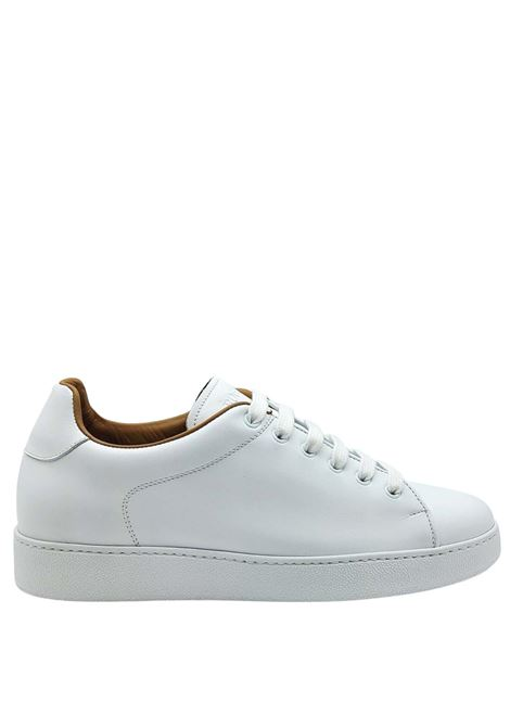 Calzature Uomo Sneakers Stringate in Pelle Bianca e Fodera in Pelle Rogal's | Sneakers | MUR1100