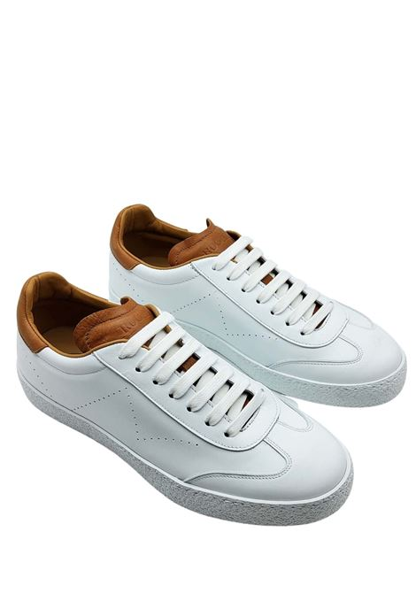 Men's Shoes Sneakers in White Leather with Leather Coverings and Leather Lining Rogal's | Sneakers | PAND3100