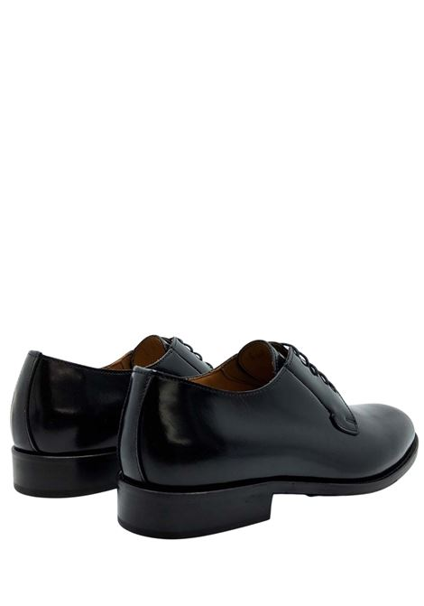 Men's Lace-up Shoes in Black Leather with Leather Bottom and Leather Lining Rogal's | Lace up shoes | PIAN6001