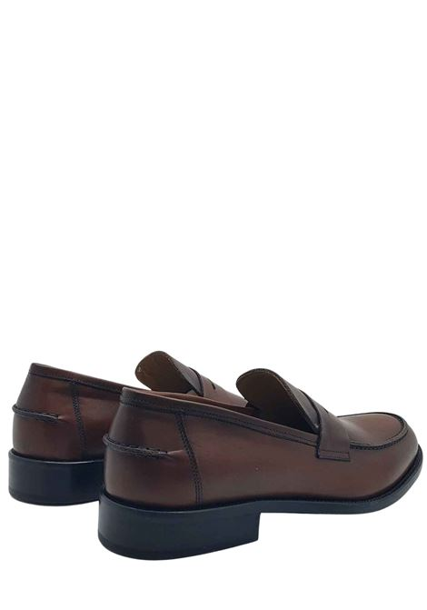 Men's Shoes Leather Loafers with Leather Band Lined in Leather and Stitched Leather Bottom Rogal's | Mocassins | PIANTA1014