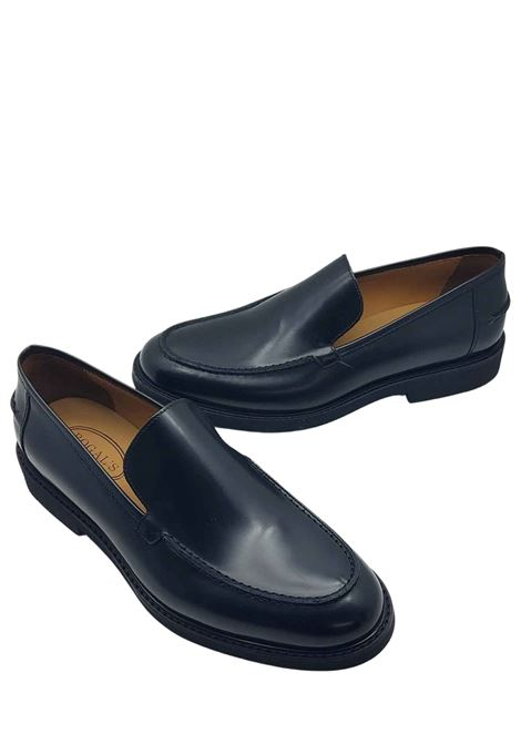 Men's Shoes Moccasins in Semigloss Black Leather with Smooth Flap and Light Micro Bottom Rogal's | Mocassins | XL5001