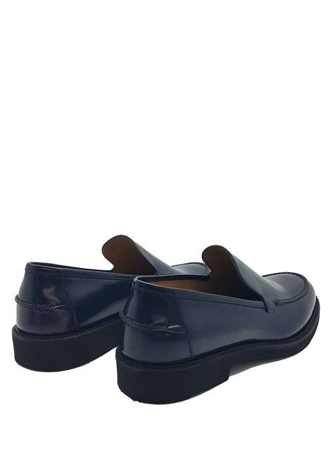 Men's Shoes Moccasins in Semi-glossy Blue Leather with Smooth Flap and Light Micro Bottom Rogal's | Mocassins | XL5002