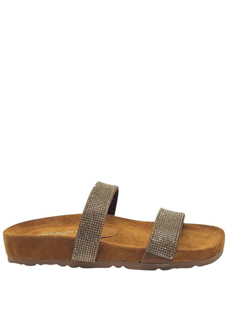 Women's Shoes Birkenstock Sandals in Leather Suede with Matching Strass and Rubber Sole Sandro Rosi |  | 3331602