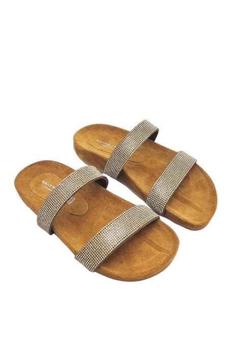 Women's Shoes Birkenstock Sandals in Leather Suede with Matching Strass and Rubber Sole Sandro Rosi | Flat sandals | 3331602