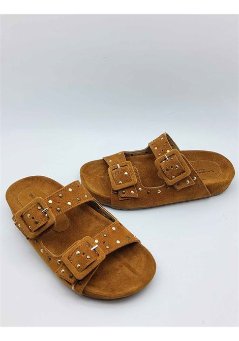 Sadali Birkenstock Women's Shoes in Leather Suede with Gold Studs and Rubber Sole Sandro Rosi |  | 3335014