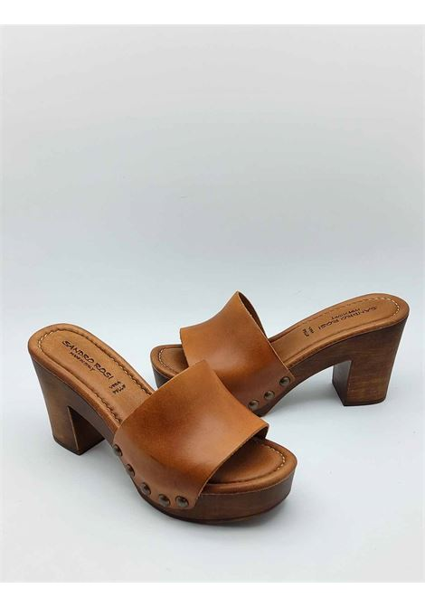 Women's Shoes Leather Sandals with Wooden Wedge Sandro Rosi |  | 7065014