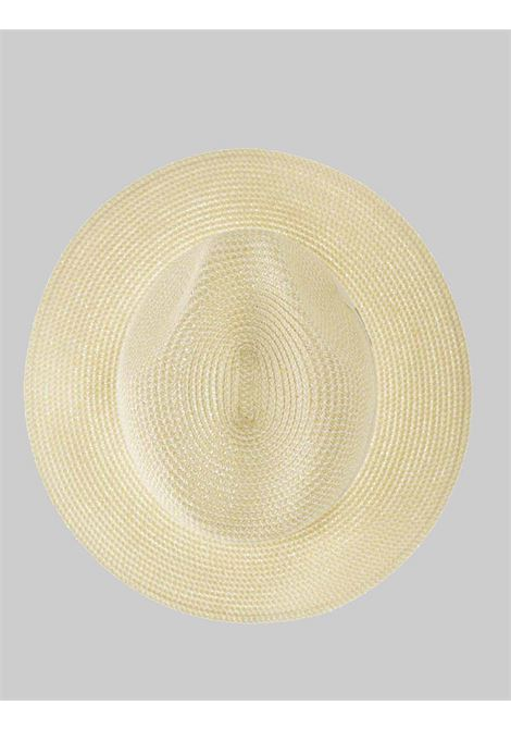 Women's Accessories Straw Hat One Color Ivory with Tone on Tone Band Seeberger Est 1890 | Hats | 0548910093
