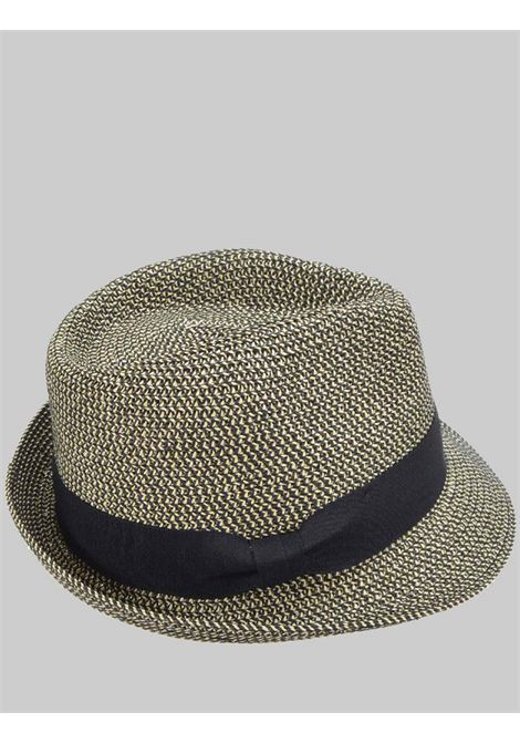 Women's Accessories Bicolor Straw Hat With Black and Natural Visor Brim with Dark Band Seeberger Est 1890 | Hats | 0548920010