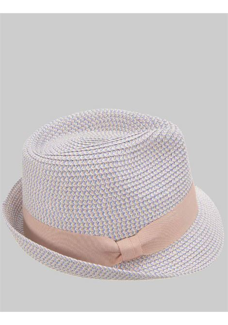 Women's Accessories Bicolor Straw Hat With Powder Pink and Pink Visor Brim with Matching Band Seeberger Est 1890 | Hats | 0548923967