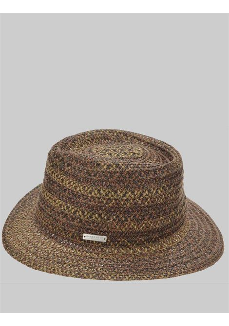 Women's Accessories Hat in Fabric and Braided Hemp in Biscuit and Beige Color Seeberger Est 1890 | Hats | 0803488054