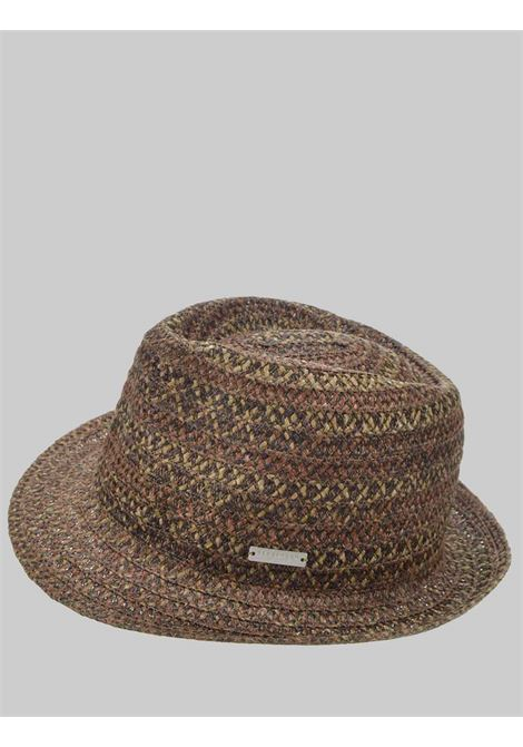 Women's Accessories Hat in Hemp and Woven Fabric Khaki and Sand Color Seeberger Est 1890 | Hats | 0803515493