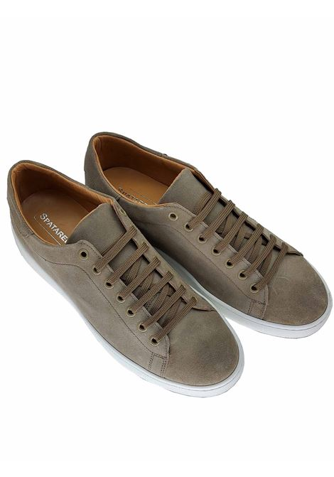 Men's Shoes Sneakers in Taupe Suede with Rubber Bottom Spatarella |  | 2011023