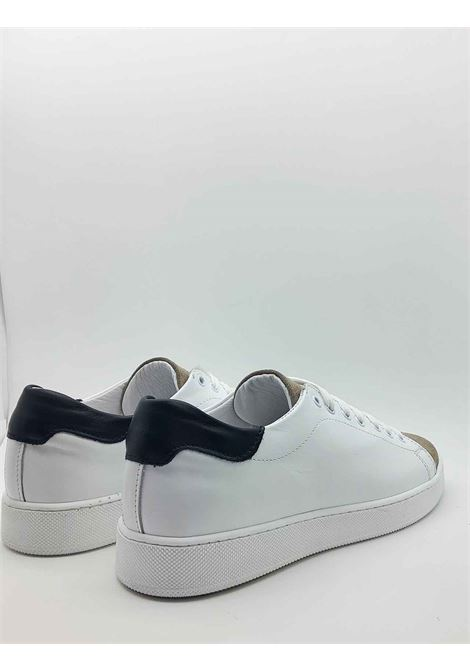Men's Shoes Sneakers in White Leather with Rubber Bottom Spatarella | Sneakers | 2011100B