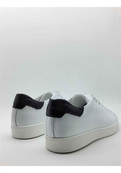 Calzature Uomo Sneakers in Pelle Bianca con Fondo in Gomma Spatarella | Sneakers | 2011100