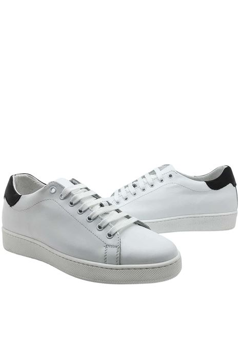 Men's Shoes Sneakers in White Leather with Rubber Bottom Spatarella | Sneakers | 2011100