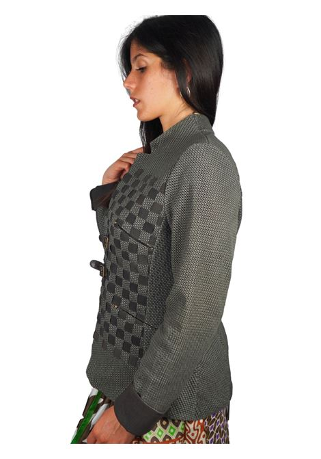 Women's Clothing Mud Perforated Leather Jacket with Straps and Buckles Spatarella |  | 2152021