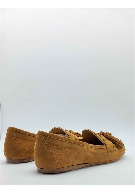 Women's Shoes Moccasins in Leather Suede with Bows and Ultra Flexible Leather Bottom Spatarella | Mocassins | 404014
